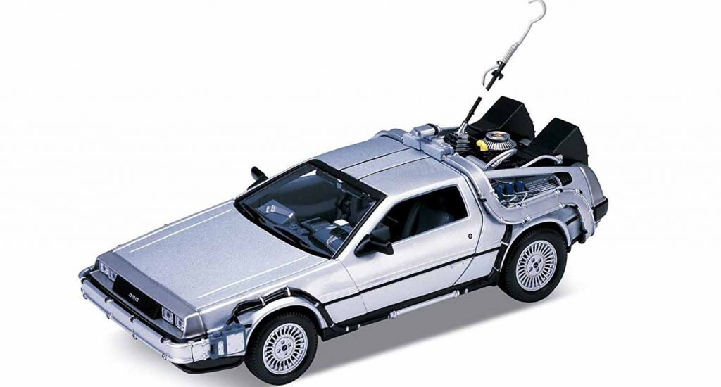 maqueta Delorean de regreso al futuro 1